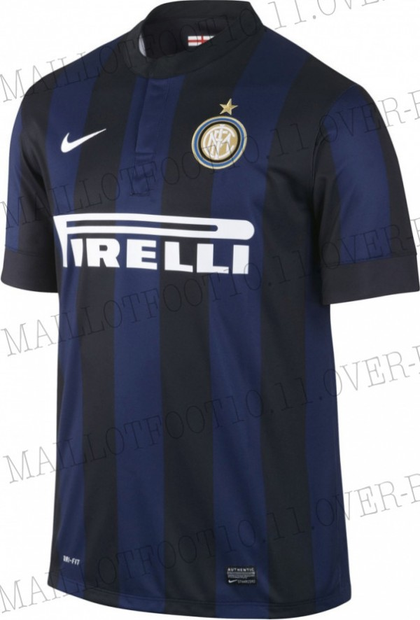 inter milan home shirt front 600x886 Inter Milan Home and Away Shirts for 2013 14 Season: Leaked [PHOTOS]