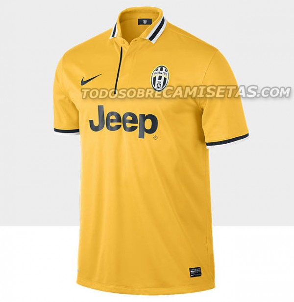 juventus away shirt front 600x618 Juventus Away Shirt for 2013 14 Season: Leaked [PHOTOS]