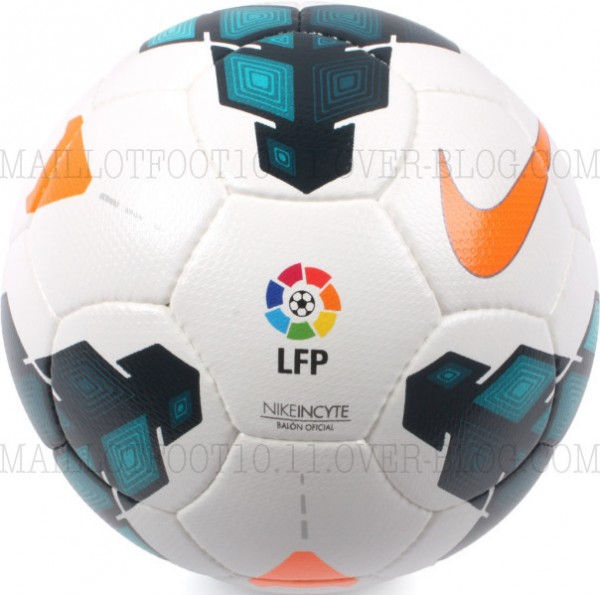 la liga 2013 14 ball 600x595 Official Nike Balls for Premier League, Serie A and La Liga 2013 14 Season Revealed: Leaked [PHOTOS]