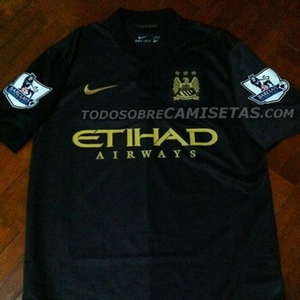 manchester city away shirt front 600x600 Manchester City Away Shirt for 2013 14 Season: New Leaked [PHOTO]