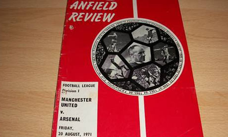 manchester united arsenal programme 1971 The Story Of When Manchester United Called Liverpools Anfield Stadium Home