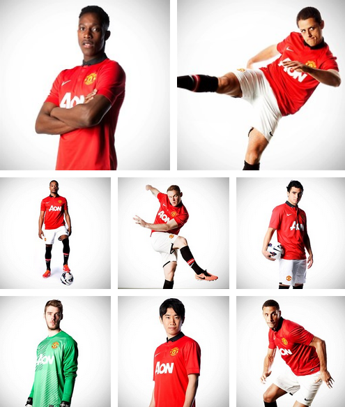 new man united home shirt montage Manchester United Home Shirt for 2013 14 Season: Official [PHOTOS]