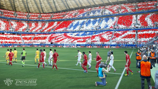 pes 2014 walkout 600x337 PES 2014 Will Feature New Engine To Give FIFA 14 A Run For Its Money