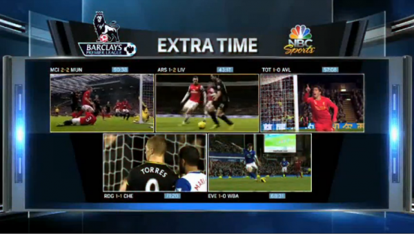 premier league extra time screenshot 600x339 Rating NBC Sports Coverage of the Premier League On US TV and Internet