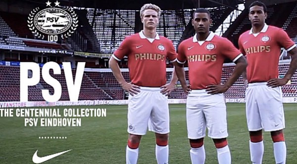 psv home shirt 600x331 Ruud Van Nistelrooy Stars in Video to Promote PSVs 100 Year Anniversary Kit [VIDEO]