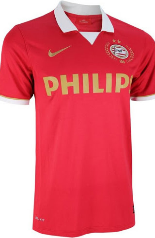 psv home shirt front back Ruud Van Nistelrooy Stars in Video to Promote PSVs 100 Year Anniversary Kit [VIDEO]