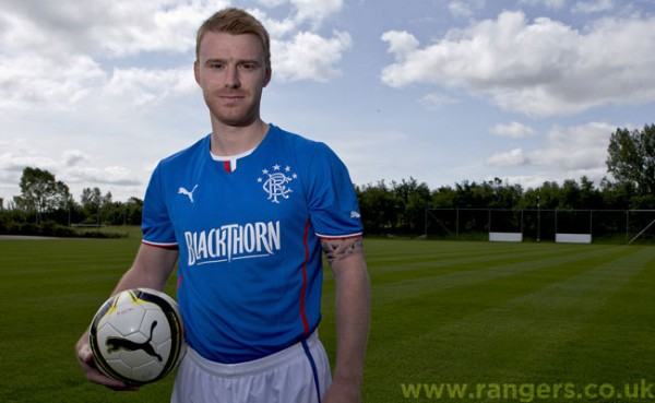 rangers home shirt 600x369 Rangers Home, Away and Third Shirts for 2013 14 Season Unveiled: Official [PHOTOS]