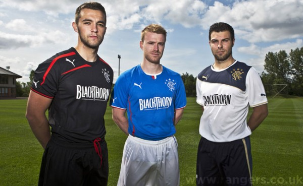 rangers kits 2013 14 season 600x369 Rangers Home, Away and Third Shirts for 2013 14 Season Unveiled: Official [PHOTOS]