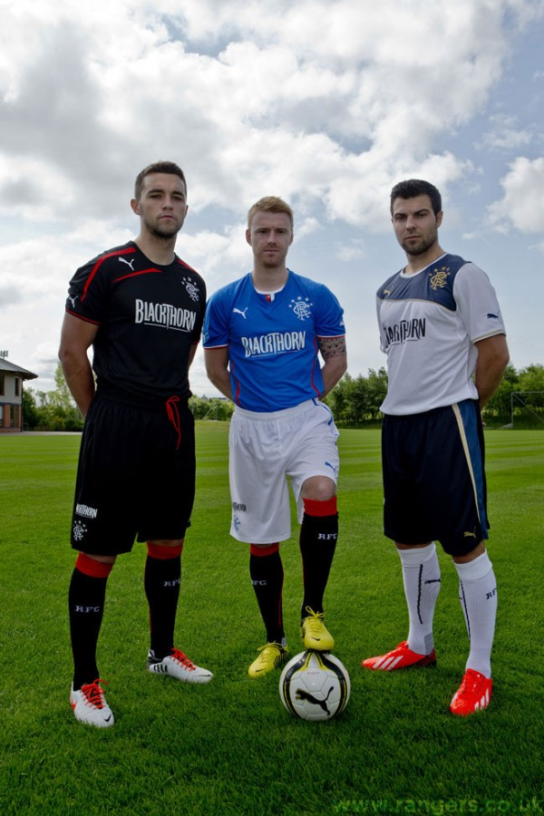 rangers kits full 600x900 Rangers Home, Away and Third Shirts for 2013 14 Season Unveiled: Official [PHOTOS]