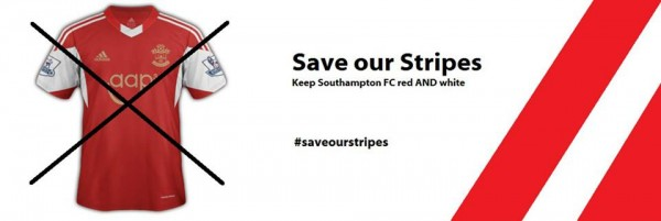 save our stripes southampton group 600x201 Southampton Home Shirt for 2013 14 Season: Leaked [PHOTO]