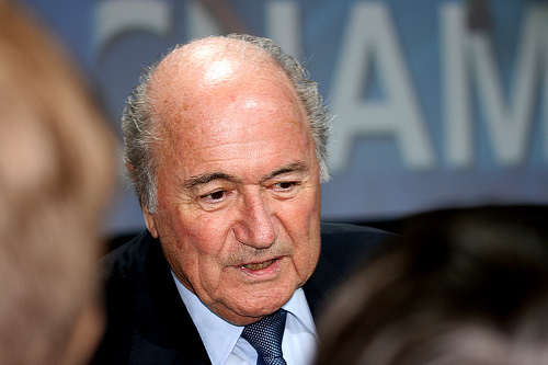 sepp blatter Sepp Blatter Suggests Inter Planetary Soccer Competitions in the Future [VIDEO]