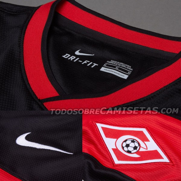 spartak moscow away shirt crest 600x600 Spartak Moscow Home and Away Shirts for 2013 14 Season: Leaked [PHOTOS]