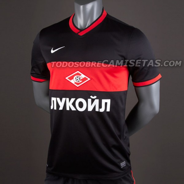 spartak moscow away shirt front 600x600 Spartak Moscow Home and Away Shirts for 2013 14 Season: Leaked [PHOTOS]