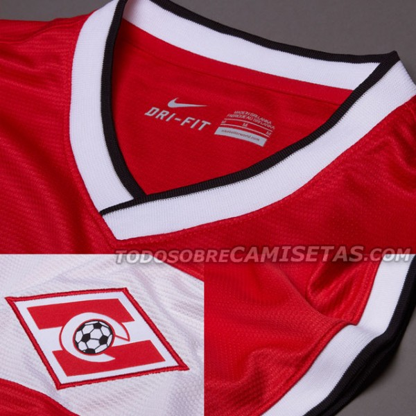 spartak moscow home shirt crest 600x600 Spartak Moscow Home and Away Shirts for 2013 14 Season: Leaked [PHOTOS]