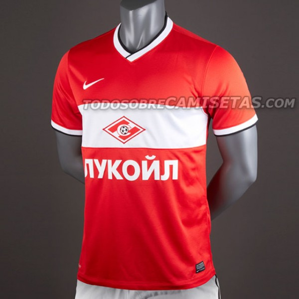 spartak moscow home shirt front 600x600 Spartak Moscow Home and Away Shirts for 2013 14 Season: Leaked [PHOTOS]