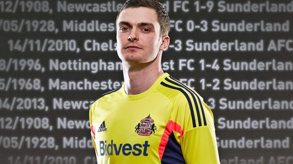 sunderland away shirt johnson 600x337 Sunderland Away Shirt for 2013 14 Season: Official [PHOTOS]