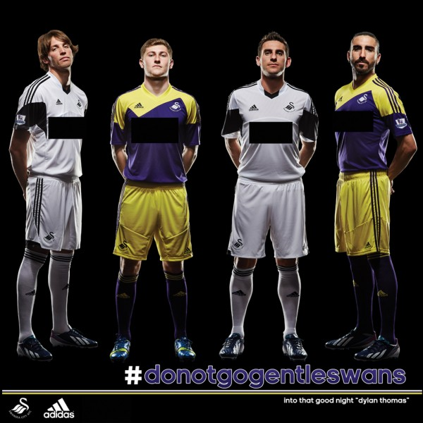 swansea city home away shirts 600x600 Swansea City Home and Away Shirts for 2013 14 Season: Preview [PHOTO]