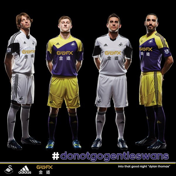 swansea city home away shirts full 600x600 Swansea City Officially Unveil New Home and Away Kits [PHOTOS]