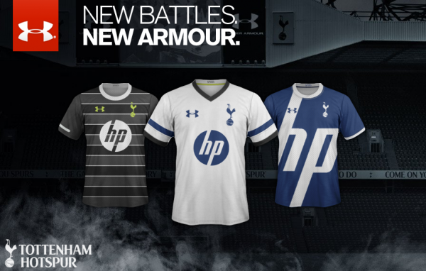 tottenham home away third shirts 600x382 Tottenham Hotspur Home, Away and Third Shirts for 2013 14 Season: Leaked [PHOTOS]