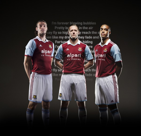 west ham united home shirt group West Ham United Home Shirt for 2013 14 Season: Official [PHOTOS]