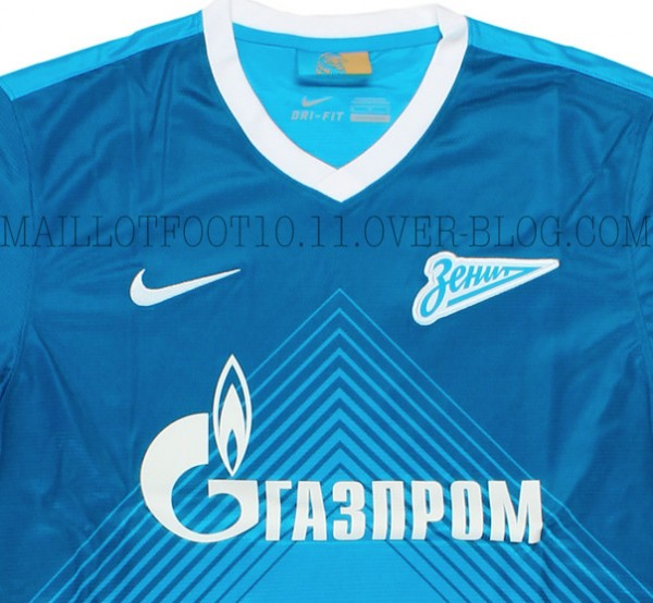 zenit home shirt closeup 600x554 Zenit St Petersburg Home Shirt for 2013 14 Season: Leaked [PHOTOS]