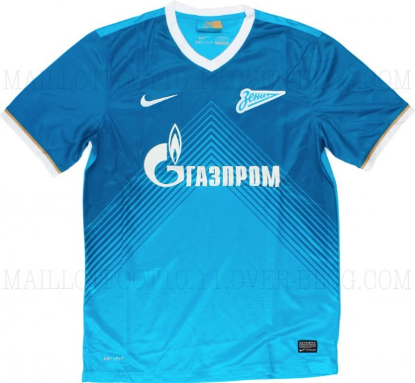 zenit home shirt front 600x554 Zenit St Petersburg Home Shirt for 2013 14 Season: Leaked [PHOTOS]