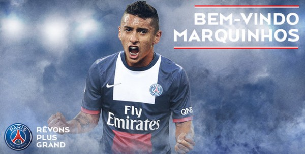 Marquinhos 600x304 Paris Saint Germain Sign Marquinhos On 5 Year Deal