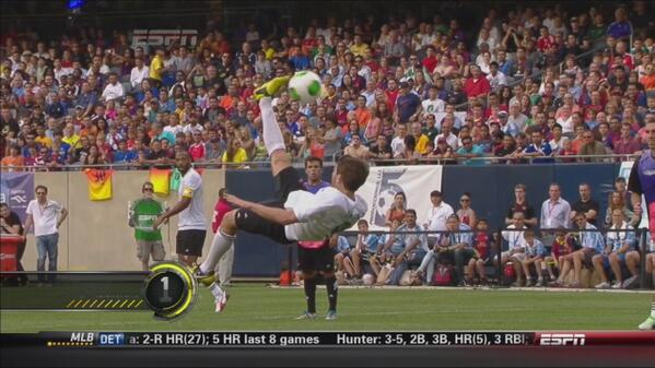 Matt Eliason Amateur Scores Incredible Bicycle Kick in Messi Charity Game [VIDEO]: Daily Soccer Report