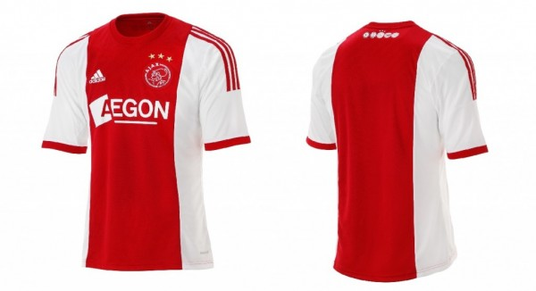 ajax home shirt 600x326 Ajax Home Shirt for 2013 14 Season [PHOTO]