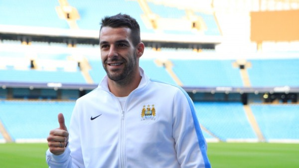 alvaro negredo etihad stadium 600x337 Manchester City Signs Alvaro Negredo; Will Wear Number 9 Shirt: Official [PHOTOS]