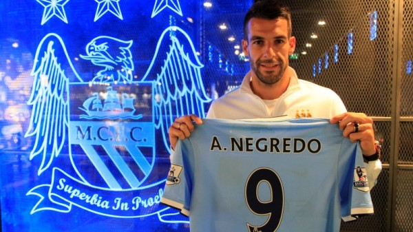alvaro negredo2 600x337 Manchester City Signs Alvaro Negredo; Will Wear Number 9 Shirt: Official [PHOTOS]