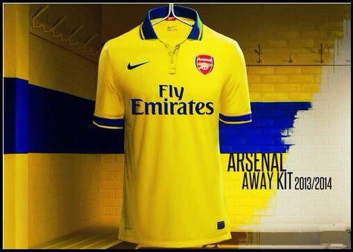 arsenal away shirt centerpiece Top 10 Best Soccer Shirts of the 2013 14 Season
