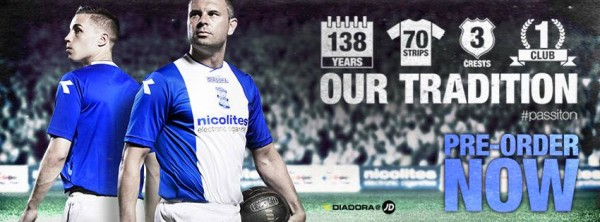 birmingham city home shirt banner 600x222 Birmingham City Home Shirt for 2013 14 Season: Official [PHOTOS]