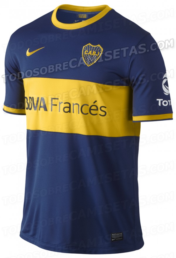boca juniors home shirt front 600x881 Boca Juniors Home Shirt for 2013 14 Season [PHOTOS]