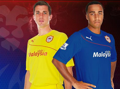 cardiff city away third shirts grouppng Cardiff City Away and Third Shirts for the 2013 14 Season [PHOTOS]