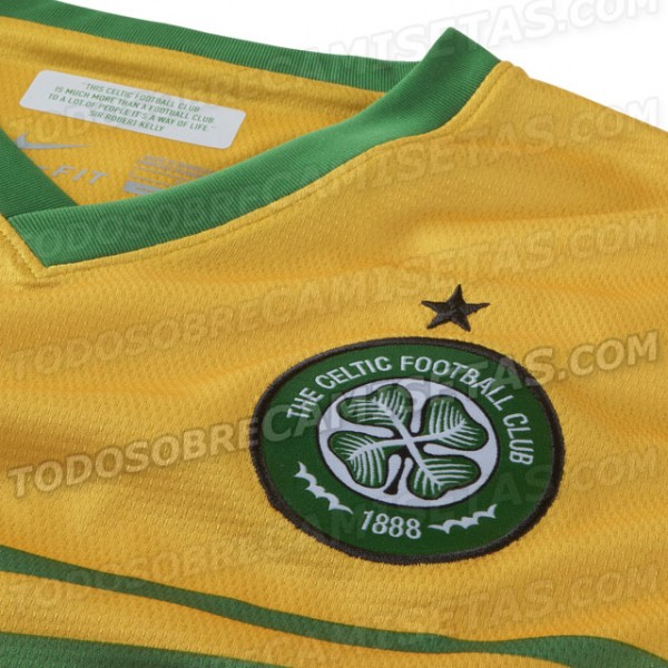 celtic away shirt crest 600x600 Celtic Away Shirt for 2013 14 Season: Leaked [PHOTOS]