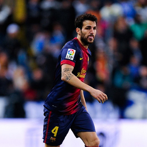 cesc fabregas1 Cesc Fabregas Rejects Man United; Wants to Stay at Barcelona, Says Vilanova: Daily Soccer Report