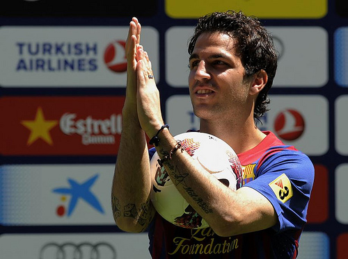 cesc fabregas4 Manchester United Confirm Second Bid For Cesc Fabregas