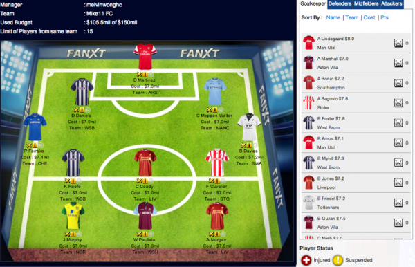fantasy epl commissioner team 600x386 FanXT Reviewed; A New Fantasy Football Game Where You Can Be Commissioner
