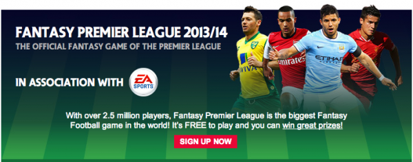 fantasy premier league 600x236 Join 2013 14 Fantasy Premier League, World Soccer Talk Private League Edition