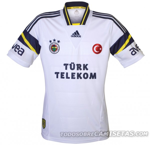 fenerbahce away shirts 600x581 Fenerbahce Home, Away and Third Shirts for 2013 14 Season [PHOTOS]