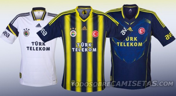 fenerbahce home away third shirts 600x328 Fenerbahce Home, Away and Third Shirts for 2013 14 Season [PHOTOS]