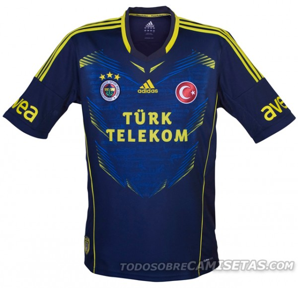 fenerbahce third shirt 600x581 Fenerbahce Home, Away and Third Shirts for 2013 14 Season [PHOTOS]
