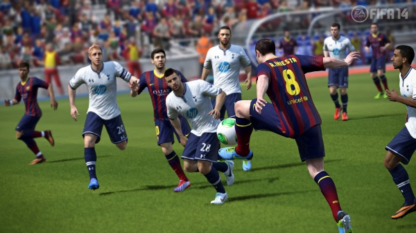 fifa 14 barcelona spurs FIFA 14: EA Sports Release New Screenshots Of Game And Ultimate Team