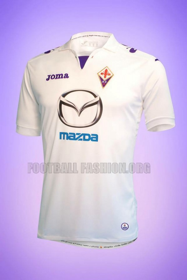 fiorentina away shirt 600x897 Fiorentina Home, Away and Third Shirts for 2013 14 Season [PHOTOS]
