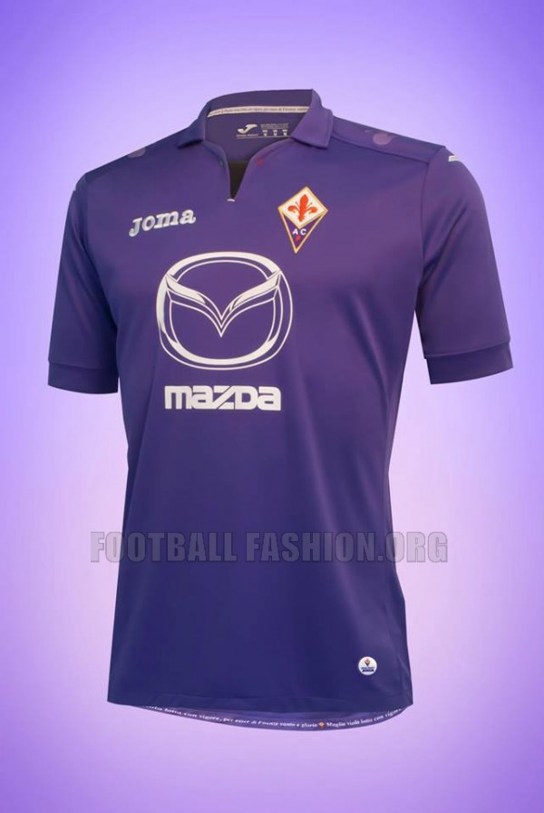 fiorentina home shirt 600x897 Fiorentina Home, Away and Third Shirts for 2013 14 Season [PHOTOS]