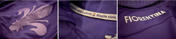 fiorentina home shirt treaments 600x135 Fiorentina Home, Away and Third Shirts for 2013 14 Season [PHOTOS]