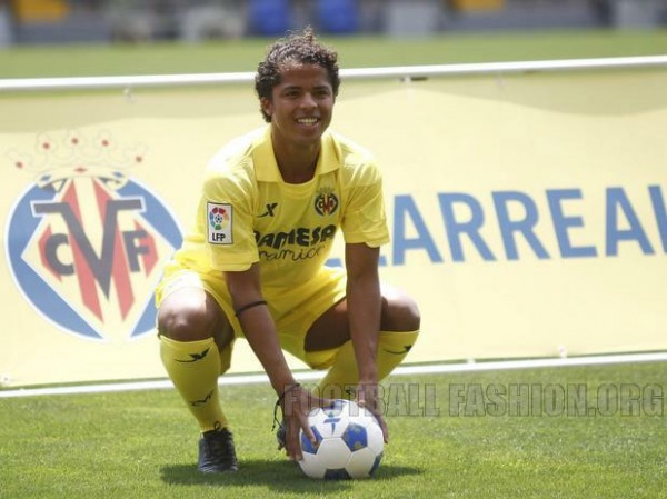 giovanni dos santos villarreal 600x449 Villarreal Home and Away Shirts for 2013 14 Season: [PHOTOS] & [VIDEO]
