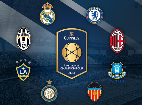 international champions cup 600x443 Squads Announced For 2013 International Champions Cup For July 27 August 7