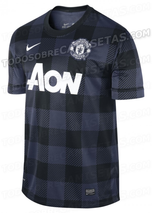 man united away shirt front 600x843 Manchester United 2013 14 Away Shirt Leaked: Official [PHOTOS]